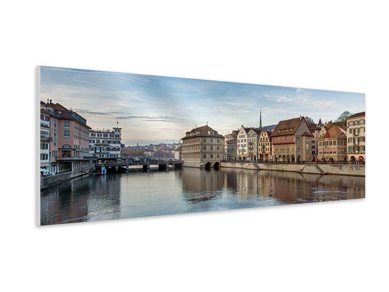 Hartschaumbild Panorama Kosmopolitisches Zürich