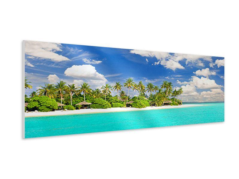 Hartschaumbild Panorama Meine Insel