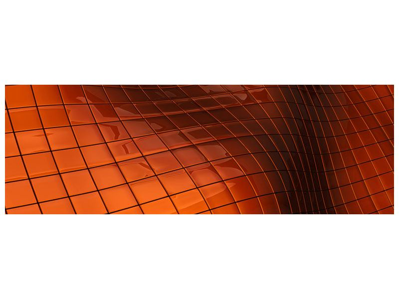 Hartschaumbild Panorama 3D-Kacheln