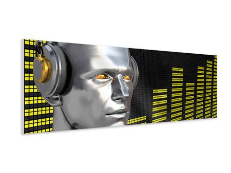 Hartschaumbild Panorama Futuristischer DJ