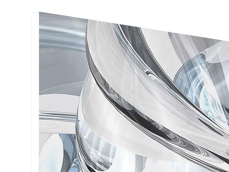 Hartschaumbild Panorama Abstrakte Glasbahnen