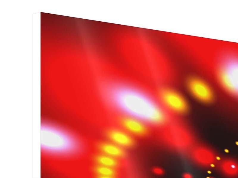 Hartschaumbild Panorama Abstraktes Lichtspiel