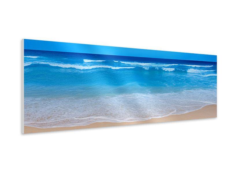 Hartschaumbild Panorama Sanfte Strandwellen