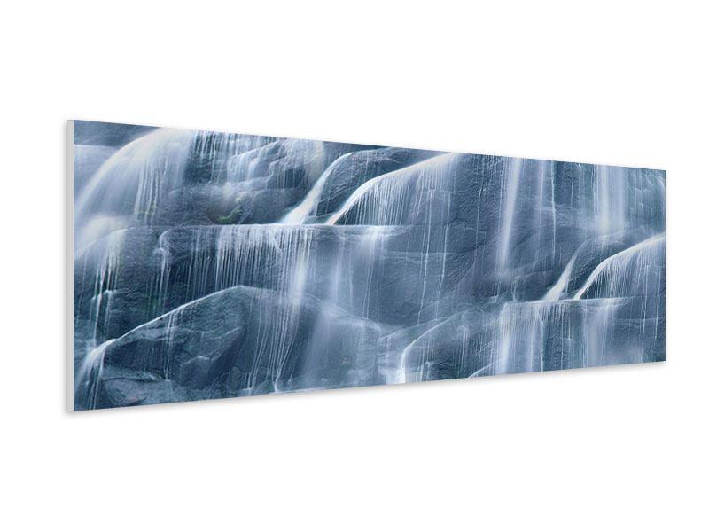 Hartschaumbild Panorama Grossartiger Wasserfall