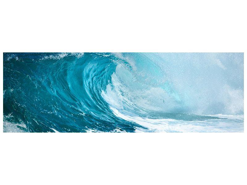 Hartschaumbild Panorama Die perfekte Welle