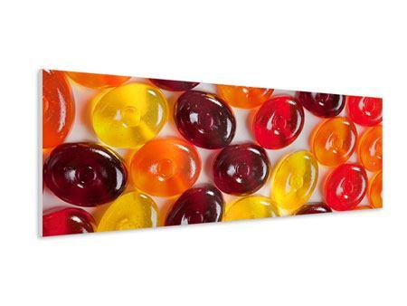Hartschaumbild Panorama Bonbons