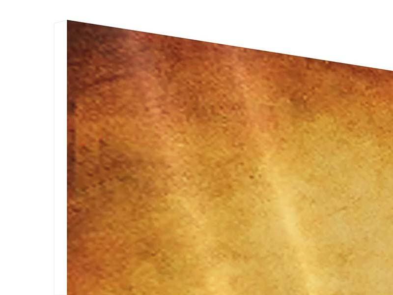 Hartschaumbild Panorama Sonnenuntergangsstimmung