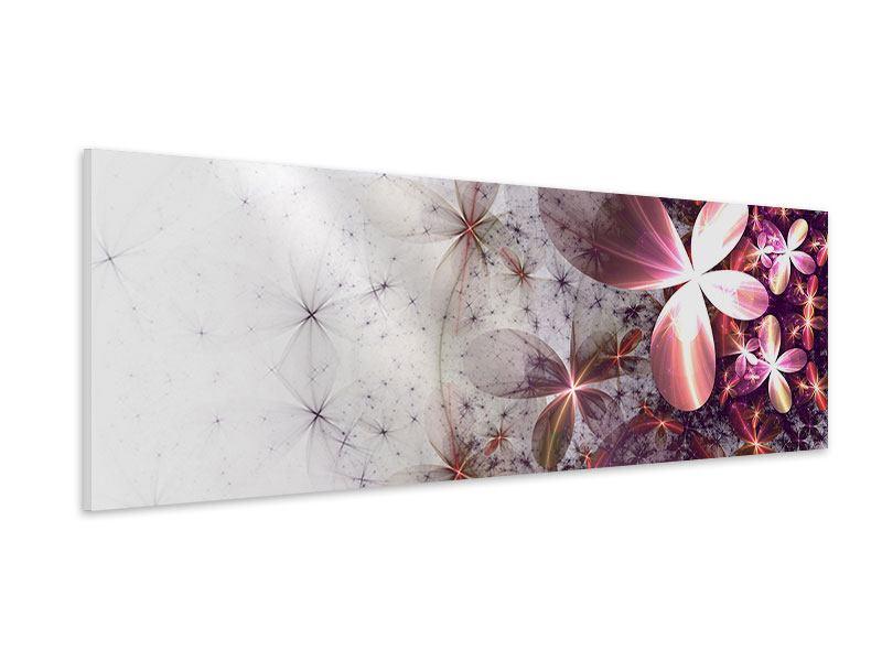 Hartschaumbild Panorama Abstrakte Blumen