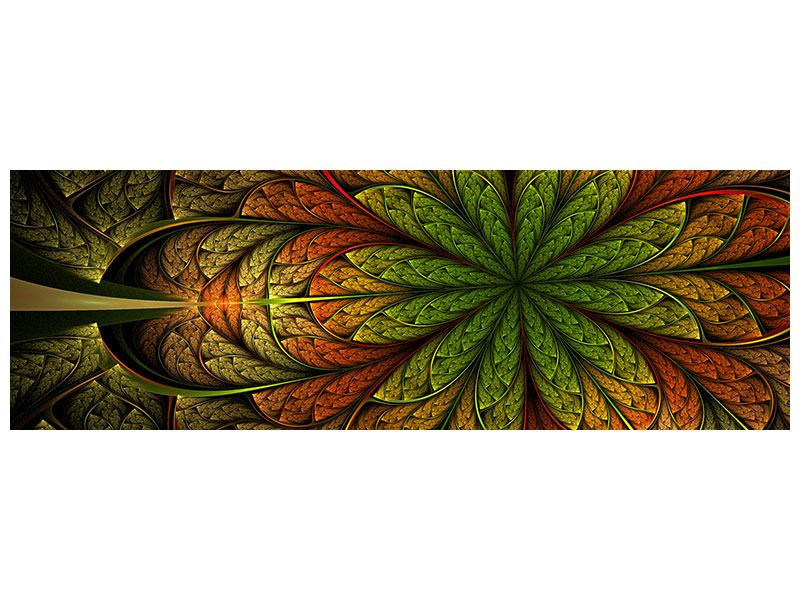 Hartschaumbild Panorama Abstraktes Blumenmuster