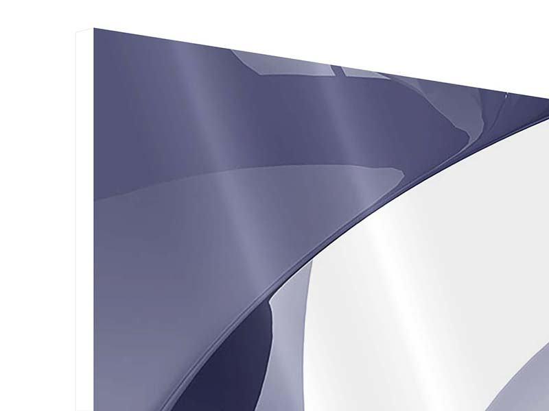 Hartschaumbild Panorama Abstrakte Schwingungen