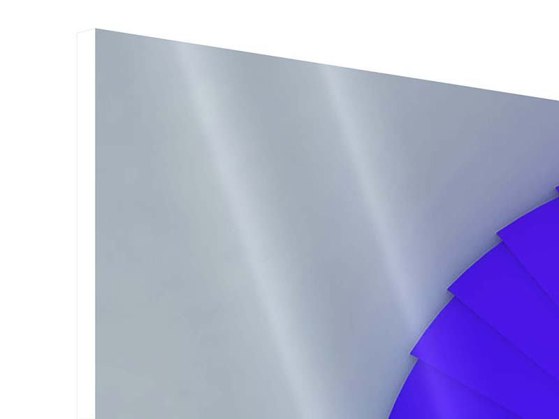 Hartschaumbild Panorama Bunte Wendeltreppe 3D