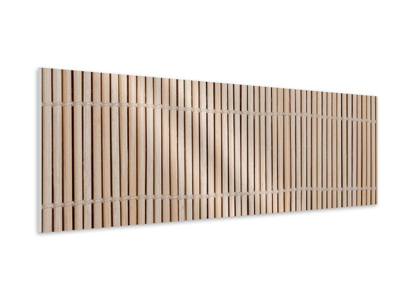 Hartschaumbild Panorama Lucky Bamboo