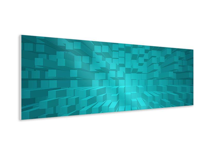 Hartschaumbild Panorama 3D-Kubusse