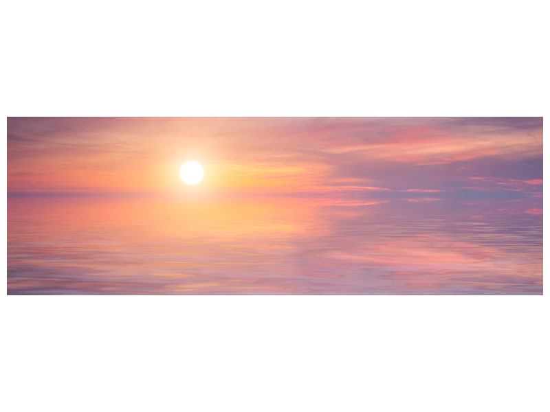 Hartschaumbild Panorama Sonnenuntergang auf See