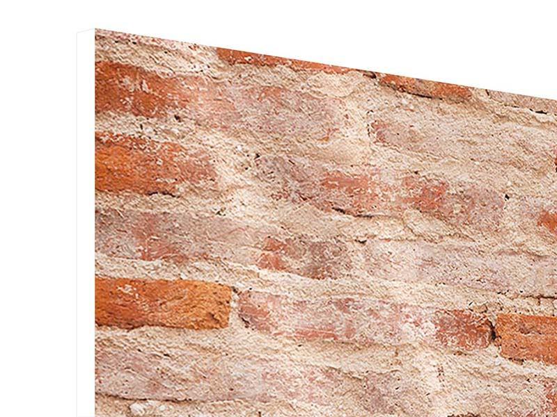 Hartschaumbild Panorama Mauerwerk