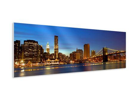 Hartschaumbild Panorama Skyline Manhattan im Lichtermeer