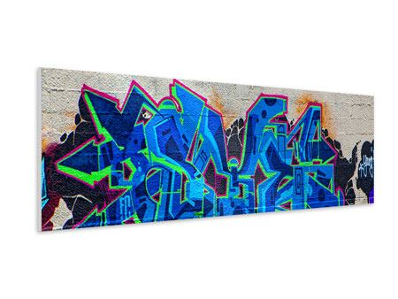 Hartschaumbild Panorama Graffiti NYC