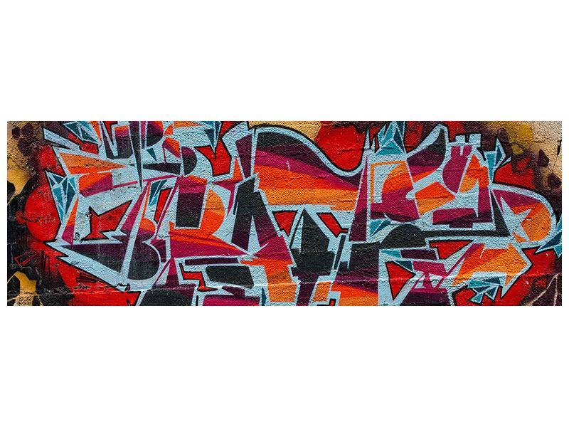 Hartschaumbild Panorama New York Graffiti