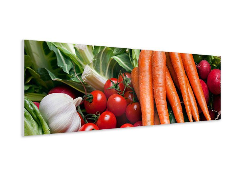 Hartschaumbild Panorama Gemüse