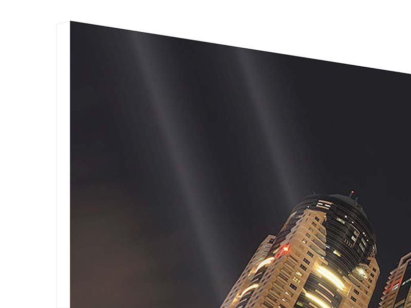 Hartschaumbild Panorama Wolkenkratzer Dubai Marina