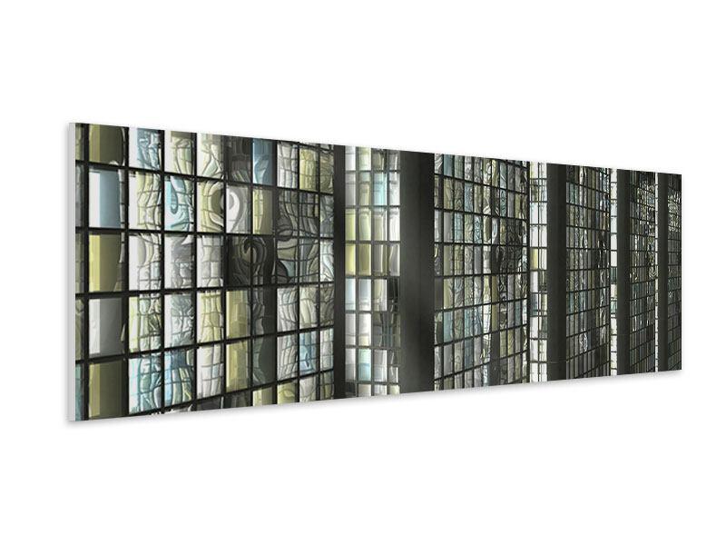 Hartschaumbild Panorama Windows