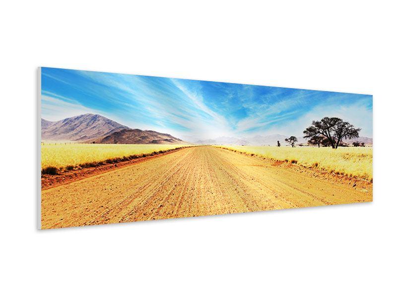 Hartschaumbild Panorama Eine Landschaft in Afrika