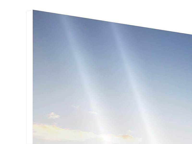 Hartschaumbild Panorama Katamaran