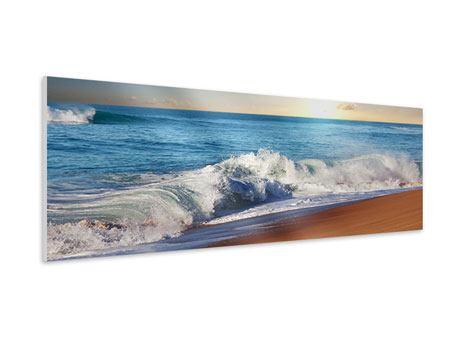 Hartschaumbild Panorama Die Wellen des Meeres