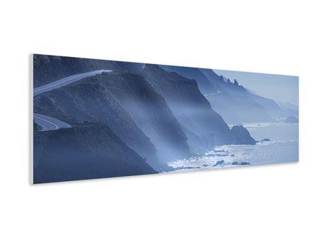 Hartschaumbild Panorama Bewegung im Wasser