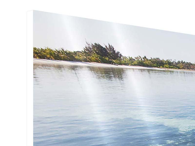 Hartschaumbild Panorama Bad im Meer