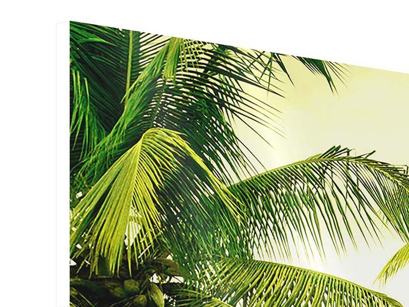 Hartschaumbild Panorama Reif für die Insel