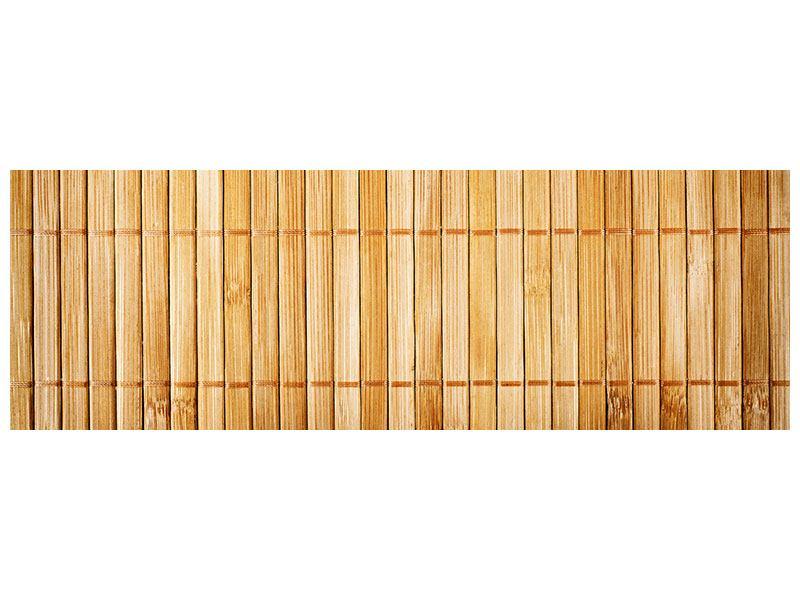 Hartschaumbild Panorama Bambusrohre