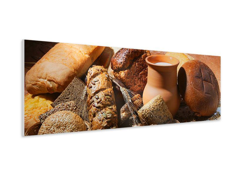Hartschaumbild Panorama Frühstücksbrote