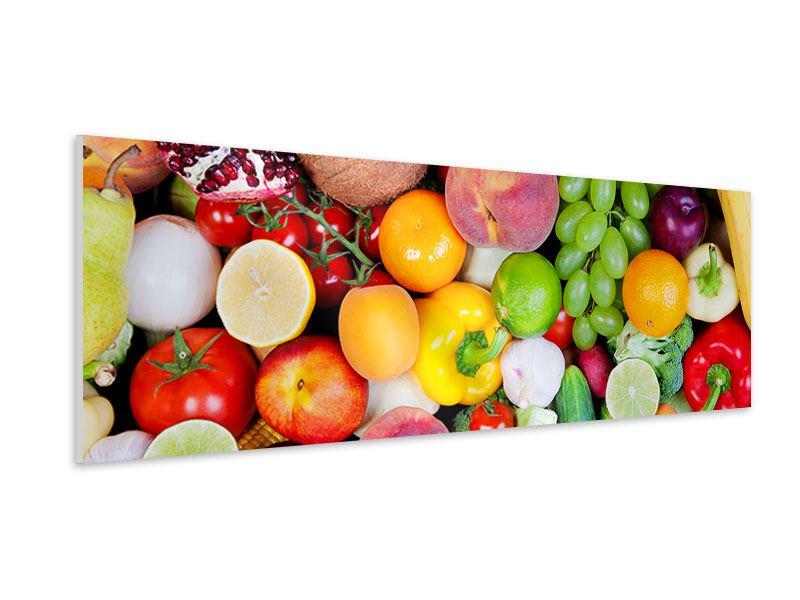 Hartschaumbild Panorama Frisches Obst