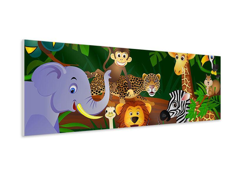 Hartschaumbild Panorama Dschungelkönig