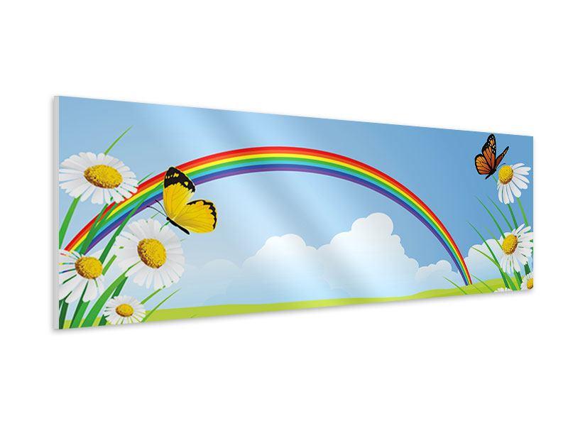 Hartschaumbild Panorama Der bunte Regenbogen