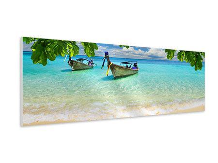 Hartschaumbild Panorama Ein Blick auf das Meer