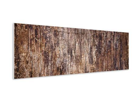 Hartschaumbild Panorama Retro-Holz