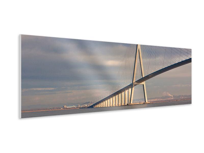 Hartschaumbild Panorama Pont de Normandie