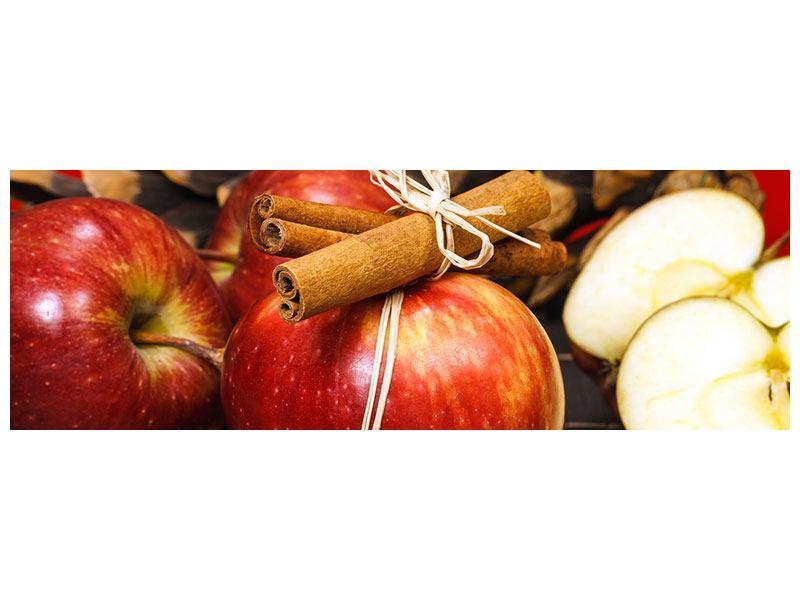 Hartschaumbild Panorama Äpfel
