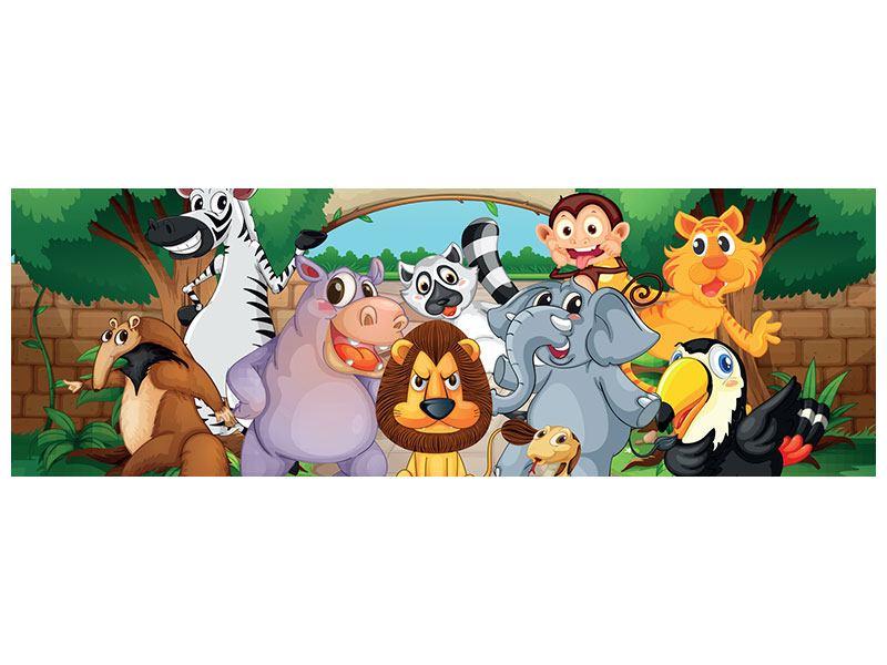 Hartschaumbild Panorama Der lustige Zoo