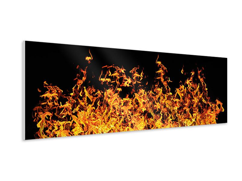 Hartschaumbild Panorama Moderne Feuerwand