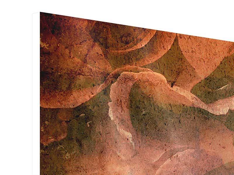 Hartschaumbild Panorama Rosenbukett
