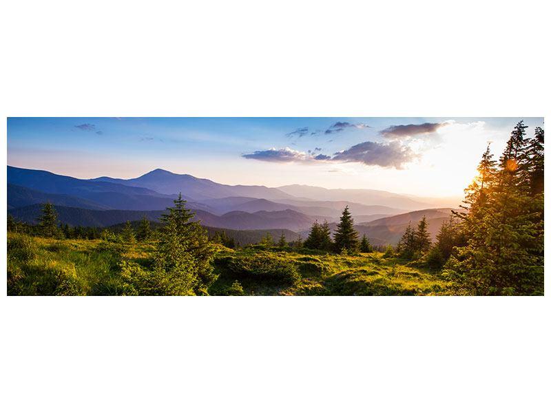 Hartschaumbild Panorama Friedliche Landschaft