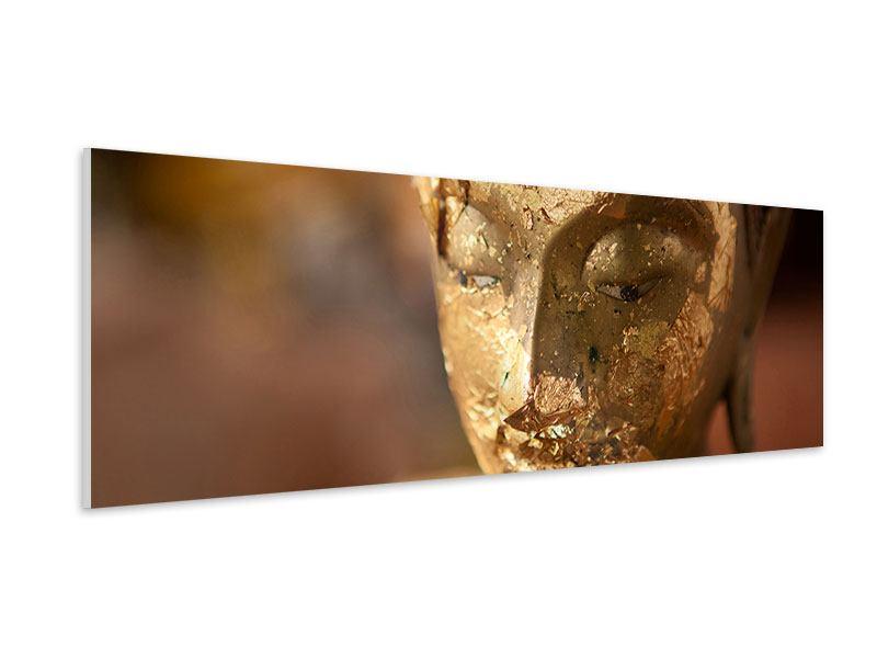 Hartschaumbild Panorama Kopf eines Buddhas