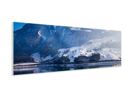 Hartschaumbild Panorama Winterwunderland