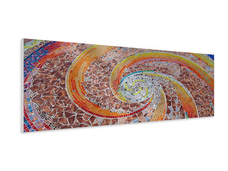 Hartschaumbild Panorama Mosaik