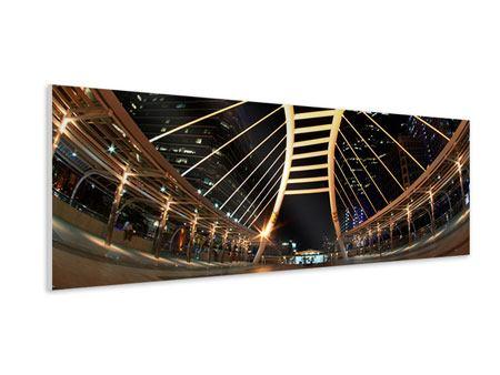 Hartschaumbild Panorama Avantgardistische Brücke
