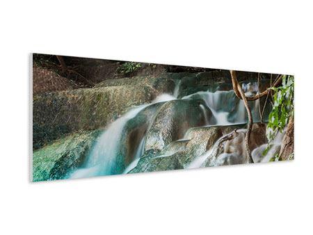 Hartschaumbild Panorama Am Fluss des Lebens