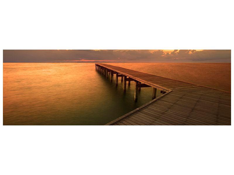 Hartschaumbild Panorama Der Steg am Meer